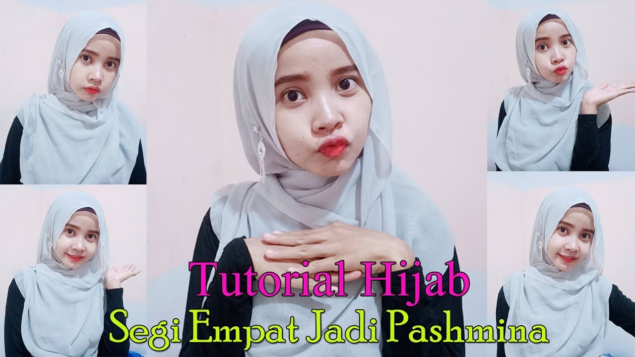 Tutorial Hijab Segi Empat Jadi Pashmina Ll Style Kekinian Ll Menutup Dada Youtube