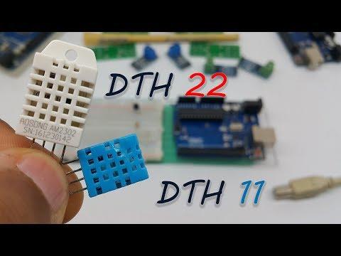 طريقة تعريف وبرمجة حساسين الحرارة والرطوبة DHT 22,DHT 11 مع الاردوينو Temperature And Humidity
