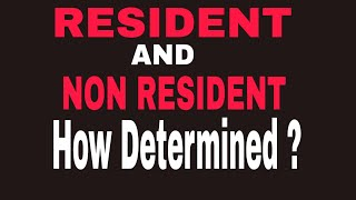 Residential Status Of An Individual   Diff Between Resident & Non Resident (fintax Ca Abhishek Singh