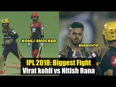 IPL 2018: Nitish Rana Abused After Taking The Wicket Of Virat Kohli !! thumbnail