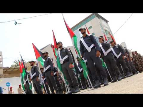 Palestine - Gaza: Military Parade For The Palestinian Police In Solidarity With Al-Aqsa 29-7-2017