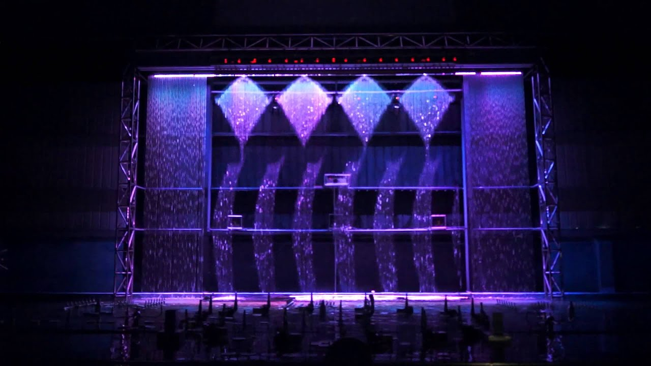 Digital Waterfall Digital Water Curtain Youtube