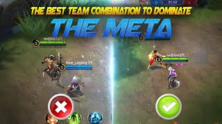 BEST TEAM COMBINATION to DOMINATE The META | Mobile Legends Bang Bang