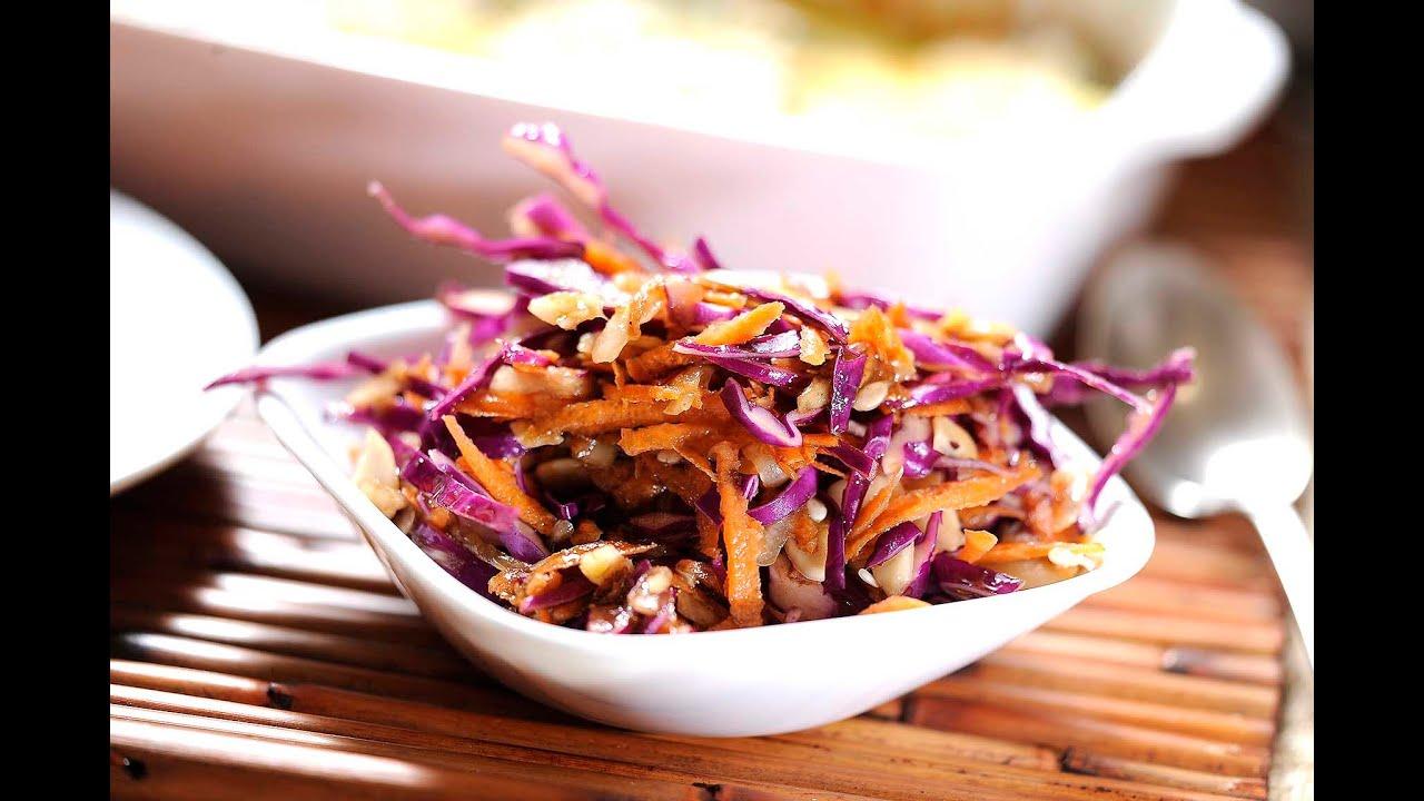 Ensalada de repollo y almendras receta f cil de preparar for Como preparar repollo