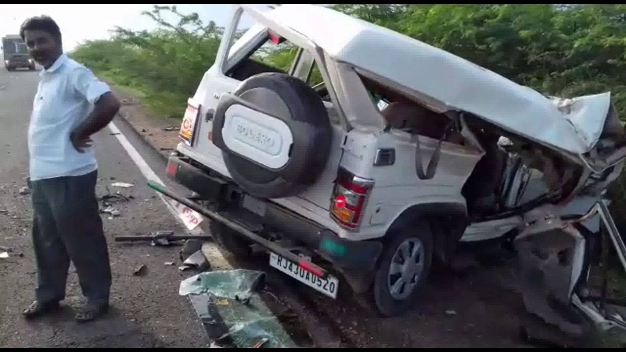jodhpur : 2 died in a road accident in jodhpur - youtube