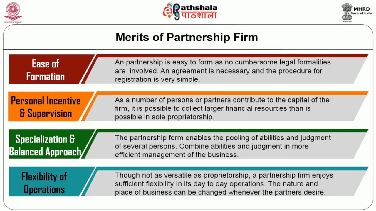 the merits of a partnership firm Advantage taxation – limited liability partnerships or private the act also provides for conversion of existing partnership firm  some advantages.
