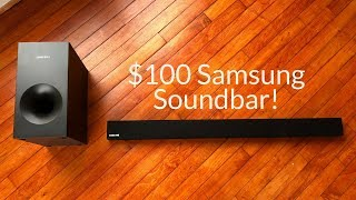 Samsung 2.1 HW-KM36 Channel 130W Soundbar System with Wireless Subwoofer Unboxing & Review