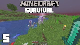 Minecraft 1.14 Survival Let's Play - RAREST OCCURRENCE IN MINECRAFT | Ep 5