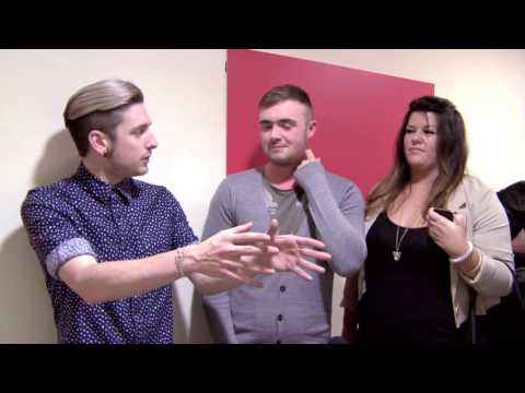 James Sheridan backstage at The Voice of Ireland