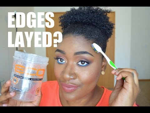 How To Lay Edges Using Eco Styler Gel Youtube