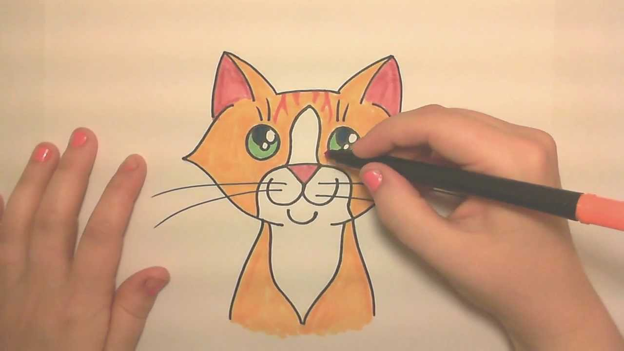 It's just an image of Soft Drawing Cat Face
