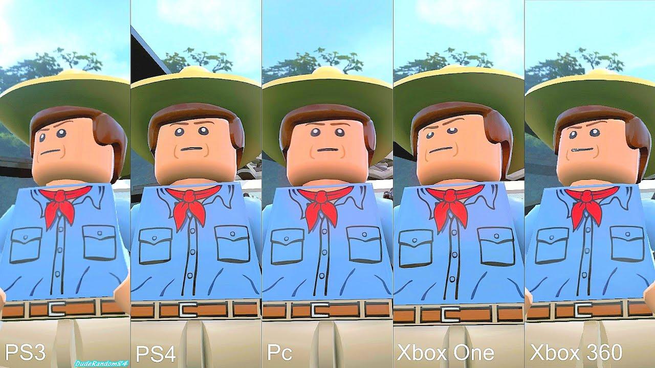 Lego Jurassic World Pc Vs Ps4 Vs Xbox One Vs PS3 Vs Xbox 360 Graphics Comparison YouTube