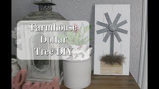 FARMHOUSE DOLLAR TREE DIY 2019 | DIY WINDMILL DECOR