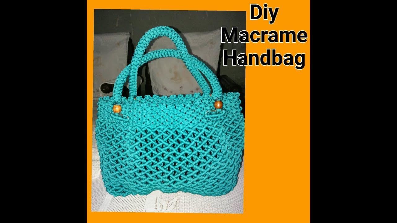 How To Make Macrame Handbag Design 4 Youtube