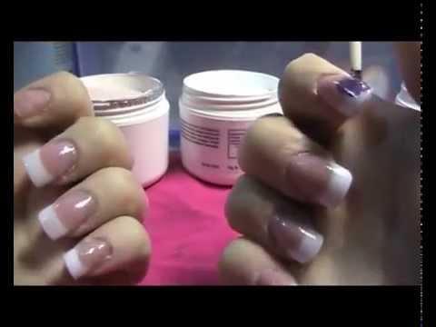 Tutorial de cómo hacer uñas acrílicas con tips y reversa - Principiantes Uñas Acrílicas