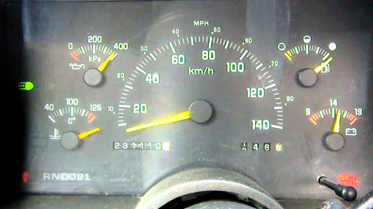 erratic temp gauge on 1993 Chevy 1500 - YouTube