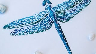 How To Paint A Magnificent Dragonfly - DIY Crafts Tutorial - Guidecentral