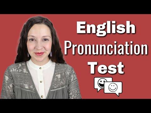 English Pronunciation Test