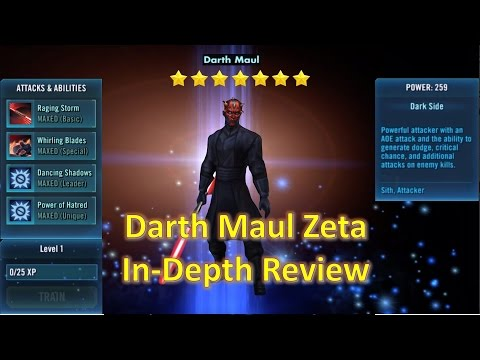 Star Wars Galaxy of Heroes: Darth Maul Zeta In-Depth Review