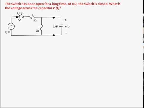 example 2 transient analysis rc circuit (1st order) youtube