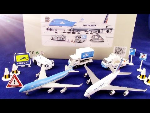 Airport Playset Kokoelma「KLM Air France A380」「British Airways Toy Airport Playset」01591+fi