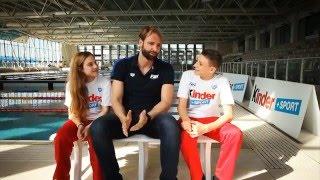 Massimiliano Rosolino agli allenamenti dell'Italia Team nuoto