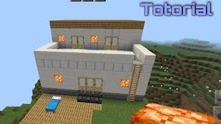 Minecraft: how to buİld a modrne House (easy) | Base Camp Guru |