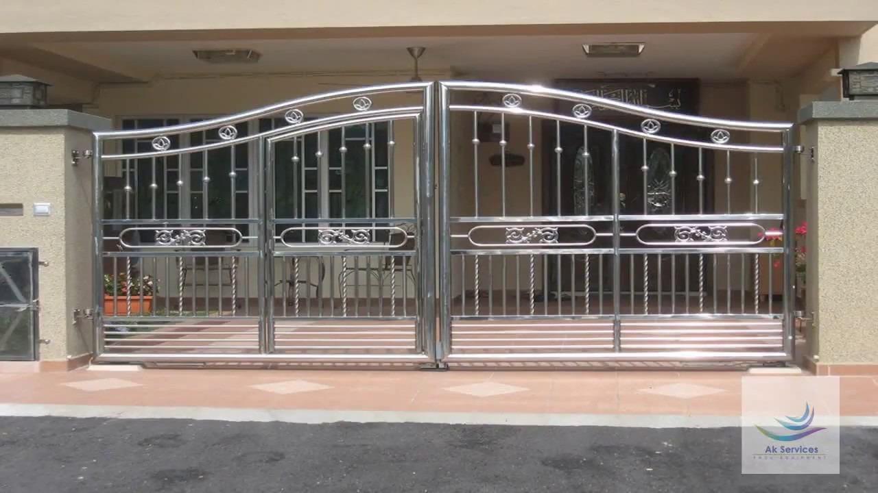 Stainless steel gate design ss gate design for front and for Front gate design