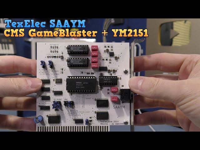 SAAYM - A CMS GameBlaster clone with a YM2151 too!