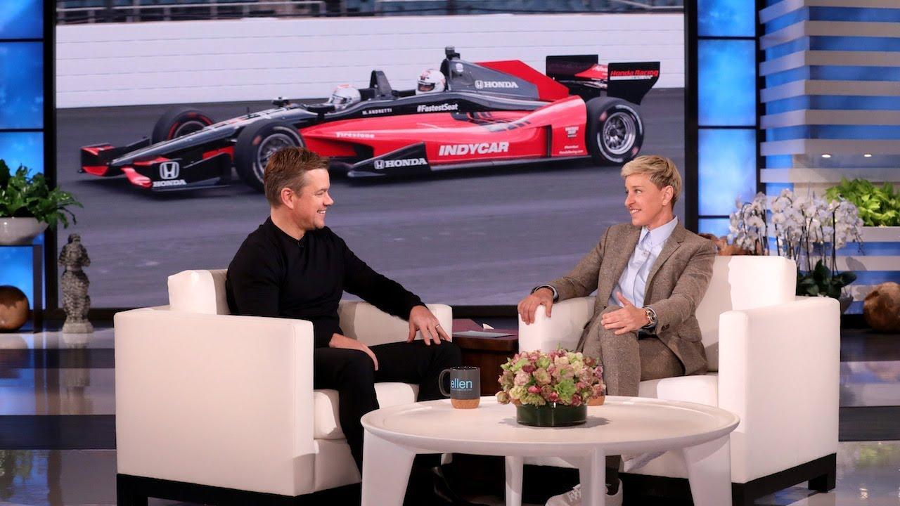 Ellen Wants to Drive Matt Damon in a Race Car