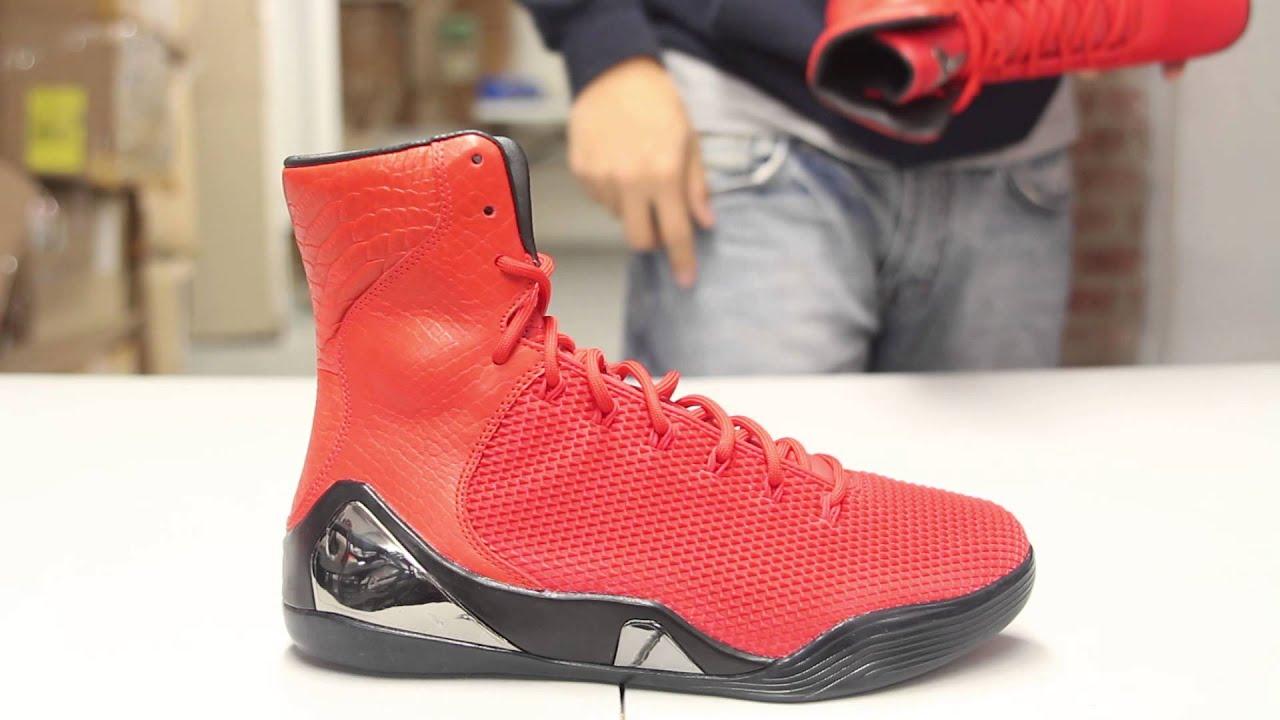 d5299deaaa21 YouTube. Real Nike Kobe 9 High EXT QS Snakeskin