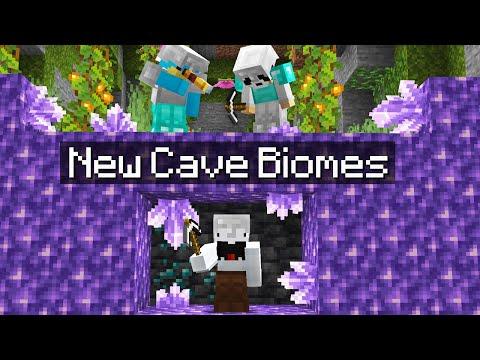 Minecraft Manhunt in the NEW 1.17 Cave Update...