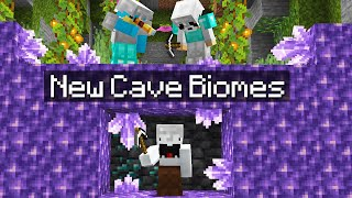 Minecraft Manhunt in the NEW 1.17 Cave Update...