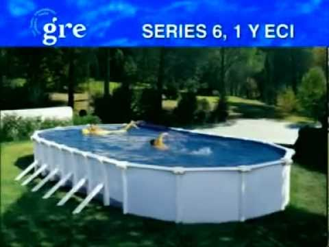 instalacin de una piscina desmontable gre ovalada de acero disponible en poolariacom youtube