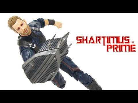 Marvel Legends Captain America Avengers Infinity War Thanos BAF Wave Movie Hasbro Figure Toy Review