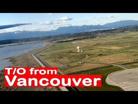 BEAUTIFUL view of Vancouver after take-off from YVR