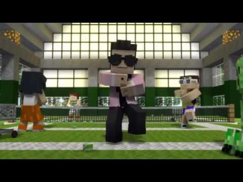 minecraft gangnam style youtube