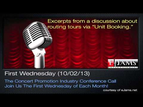 """Concert Promotion Meeting Excerpts on """"Unit Booking"""""""
