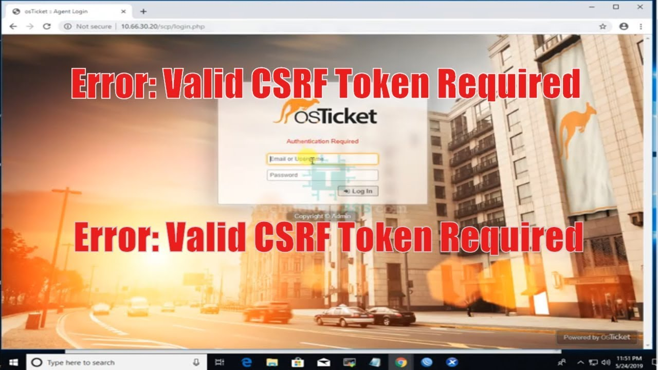 Csrf token required