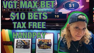 💰🍎VGT THE LUCKY LEPRECHAUN TAX FREE HANDPAY💰🍎 CHOCTAW DURANT
