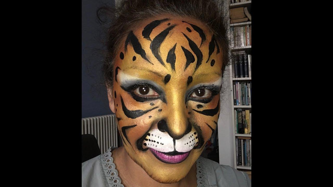 Tigre Tutorial Maquillaje De Fantasia Youtube