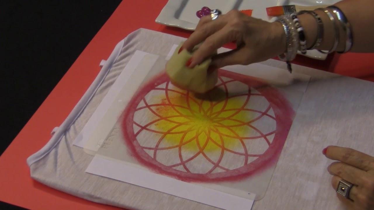 Cómo Pintar Mandalas Sobre Remera Con Pintura Para Telas Look Por Estela Nogeura