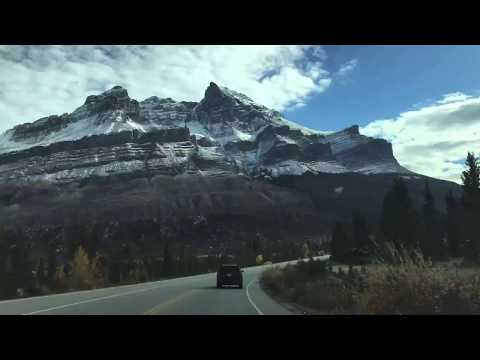 Time lapse - Driving the Icefields Parkway. Alberta, Canada