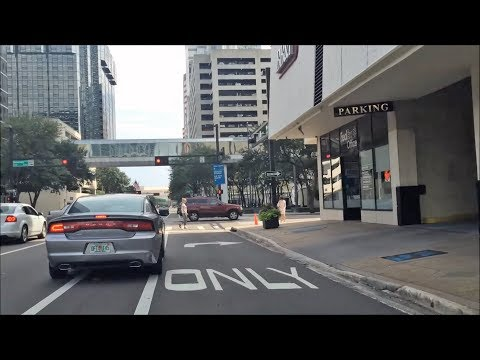 Driving Downtown - Tampa Florida USA