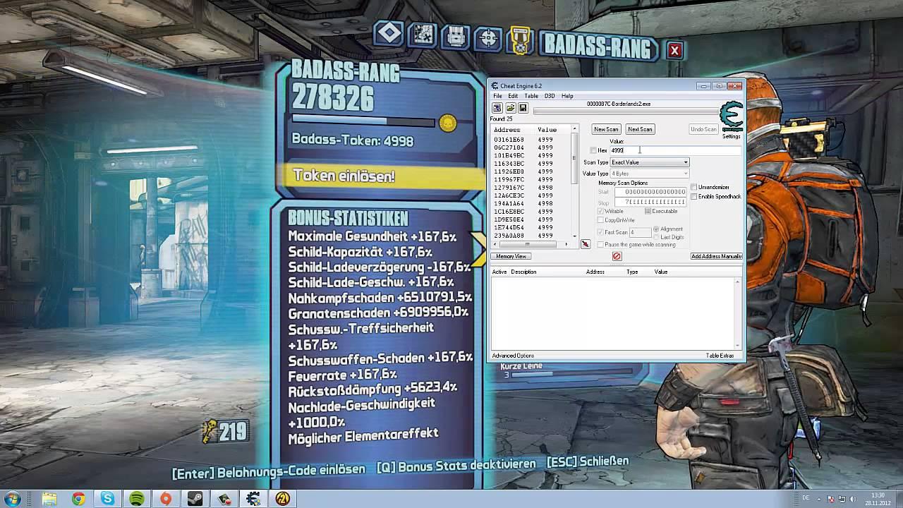 Borderlands 2 - Badass Tokens cheaten ( PC only ...
