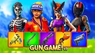 1v1v1v1 GUN GAME BATTLE v3!! - Fortnite Playground (Nederlands)