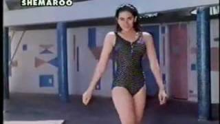 karishma kapoor in a sexy blue swimsuit - prem qaidi (high quality)