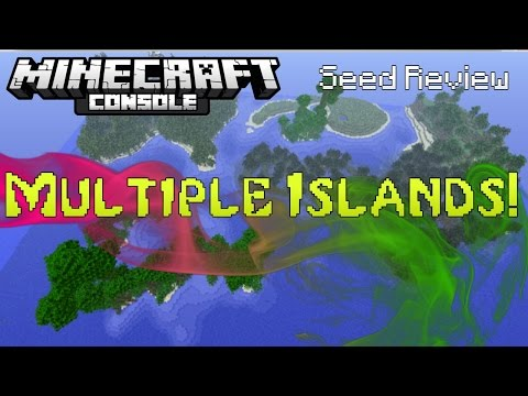 Minecraft Console: MULTIPLE ISLANDS! Seed Review! (PS & XBOX)