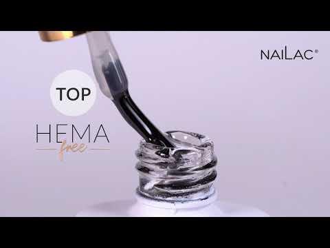 Video: Hema Free Hybrid top coat - No Wipe NaiLac 7ml
