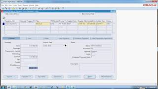 How to Create Invoice and Approve in Oracle R12 Apps